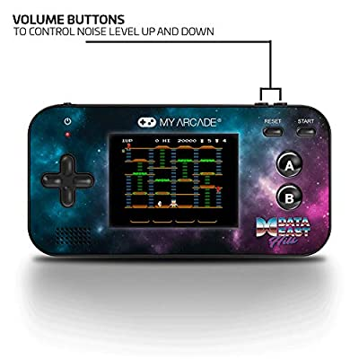 My Arcade Gamer V - Handheld Gaming System - 220 Retro Style Games Plus 8 Data East Classics - Lightweight Compact Size - Battery Powered - Full Color Display - Volume Buttons - Headphone Jack - Purple: Video Games