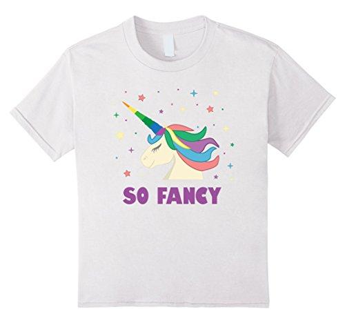 Kids Cute Magical So Fancy Unicorn Halloween Costume Star Shirt 4 White