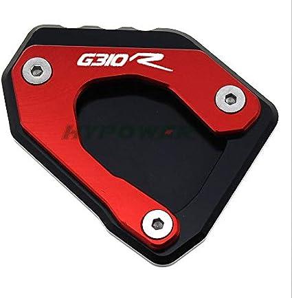 Color : G310R Gold LIWIN Moto Accessori For BMW G310GS G310R G310 R G310 GS 2017-2018 Motorcycle CNC Cavalletto laterale del piede stand di estensione Pad piastra di supporto Ingrandire stand