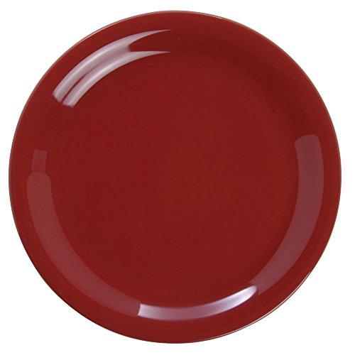 - G.E.T Diamond Harvest Narrow-Rim Cranberry Melamine Salad Plate - 7 1/4