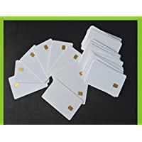100 PCs Contact IC card SLE4442 Chip Smart Card PVC White No Printing