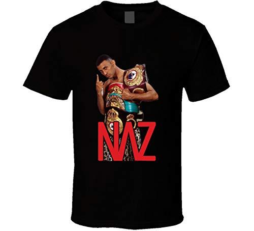 Prince Naseem Hamed Naz Boxing Champion Fight Fan T Shirt 2XL Black (Prince Naseem Best Fight)