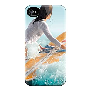 Hot Design Premium VlI2880aYCQ Tpu Case Cover Iphone 4/4s Protection Case(surf Girl)