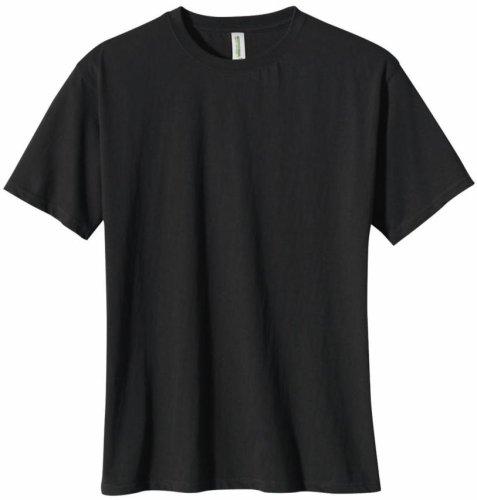Black Organic Cotton Tee - econscious Men's 100% Organic Cotton Short Sleeve Tee (Black, Large)