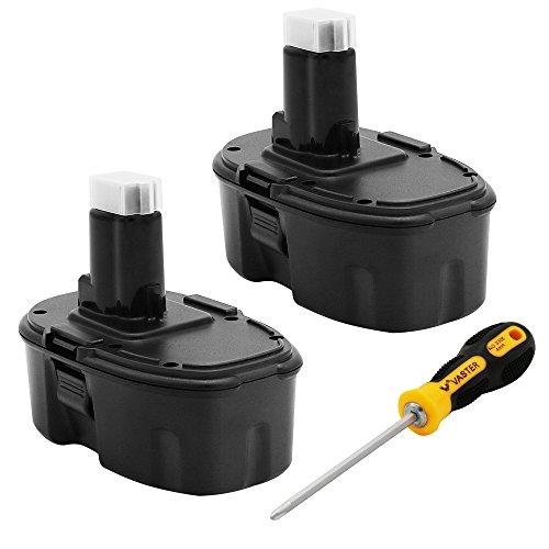 3600mAh 18V Replacement Battery for Dewalt 18 volt XRP DC9096 DC9098 DC9099 DW9095 DW9096 DW9098 DW9099 DE9039 DE9095 DE9503 Ni-Mh Cordless Power Tools Batteries 2 PACK