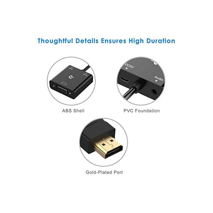 41rHp0v0bmL Haz clic aquí para comprobar si este producto es compatible con tu modelo El adaptador de HDMI a VGA ligero y portátil conecta un dispositivo HDMI compatible a un monitor o proyector con puerto VGA. Se requiere un cable VGA (se vende por separado). Chip IC activo integrado que mejora la compatibilidad. El cable Micro-USB adjunto proporciona energía adicional para los dispositivos con salida de baja potencia, como el MacBook Pro con pantalla Retina.