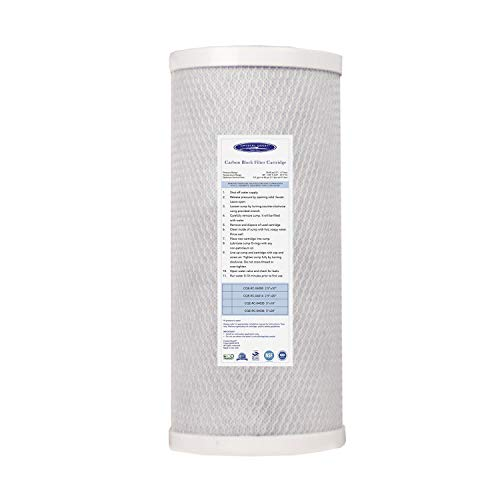 Crystal Quest CQE-RC-04035 5-Micron Carbon Block Filter Cartridge