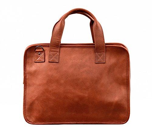 LE CONQUÉRANT Naturel porte-documents en cuir souple attaché case PAUL MARIUS