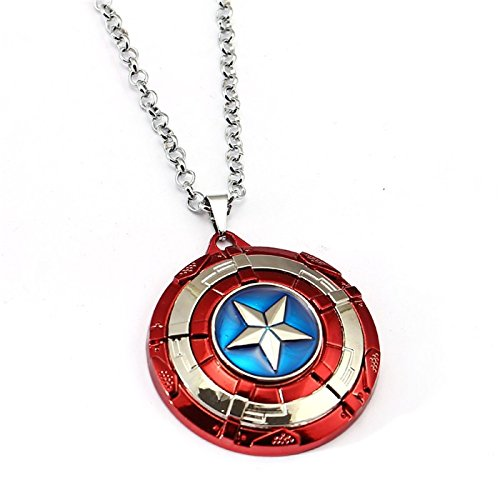 Urartu Creative Marvel Superhero Ca Shield Infinity War Stainless Steel Pendant Necklace By  Red