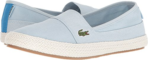 Womens Shoes Flat Lacoste (Lacoste Women's Marice Sneaker, Light Blue Hemp, 7 Medium US)