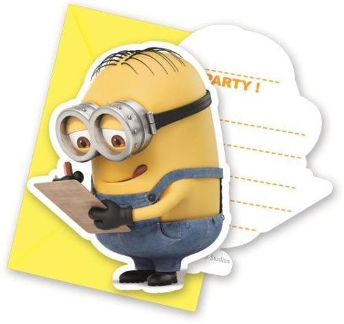 Procos Lovely Minions Party Invitations & Envelopes (6 Pack) ()