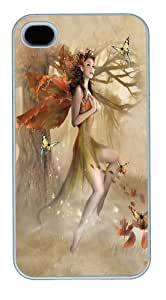 Fairy Forest Meadow Custom iPhone 4s/4 Case Cover Polycarbonate White
