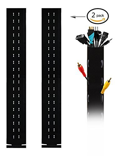 Emarth 2pack 40'' Cable Management Sleeve, Flexible Neoprene Cable Wrap for PC/ TV/ Office/ Phones/ Speakers