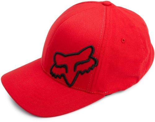 Fox Men's Flex Fit Legacy Logo Hat, Red1, S/M - Skate Cap Hat
