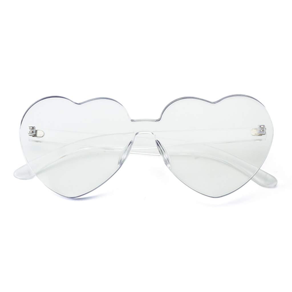 Gafas de sol Aviador Vogue UV Running- Nuevas corazón del melocotón de la  Personalidad - Viaje Transparente de la Marea de la Moda (Color   D)   Amazon.es  ... 4a168ea067