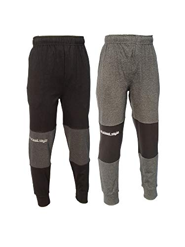 chopper club Pack of 2 Track Pant for Boys 13-14 Years Smart Set of 2 Joggers Black+Anthra US18