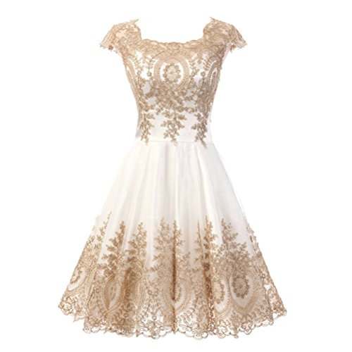 ivory lace cocktail dress - 9