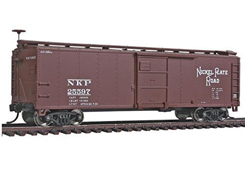 - HO Scale 40' X-29 Boxcar - Ready to Run -- Nickel Plate Road #25597 (Boxcar Red)