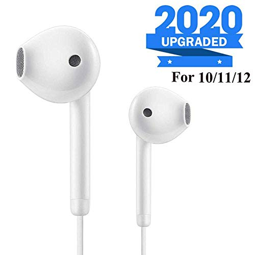 Earbuds/Earphones, Microphone Earphones Stereo Headphones Noise Isolating Headset Compatible with iPhone 7/7 Plus/iPhone 8/8 Plus/iPhone X 10/XS/iPhone Xs Max/XR/iPhone 6S /6S Plus/6 Plus