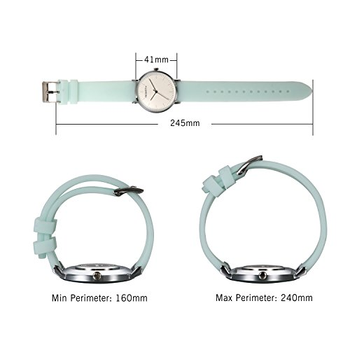 Ladies and Girls Jelly Green Scrub Silicone Band Round Face Quartz Youth Wrist Watch Gift for Women by Lancardo (Image #4)