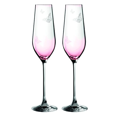 Royal Albert Miranda Kerr Flute (Set of 2), 7.8 oz, - Miranda Glasses Kerr
