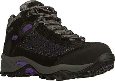 Skechers for Work Women's Twee Boot,Black/Pewter/Black,9 M US