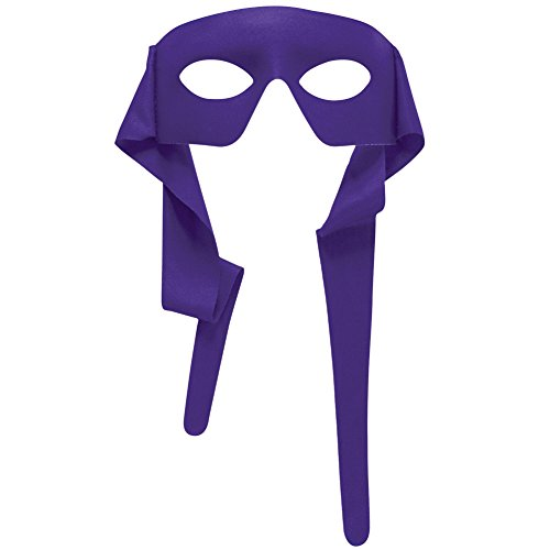 Forum Novelties Mens Purple Masked Man with Ties Venetian Mardi Gras Mask Costume -
