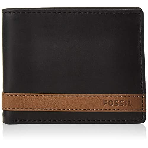 Fossil Men's Quinn Leather Bifold Flip Wallet