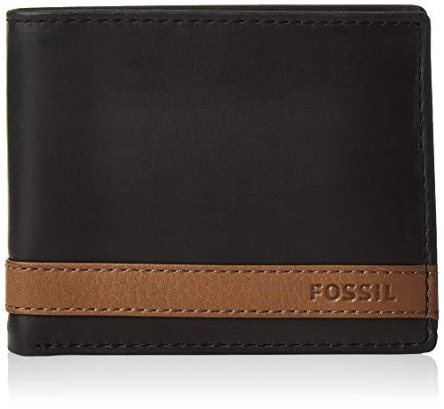 Fossil Men's Quinn Leather Bifold Flip ID Wallet 1