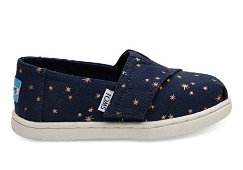 Toms Tiny Alpargata 100% Cotton Espadrille, Size: 9 M US Toddler, Color: Navy Light (Toddler Navy Canvas Footwear)