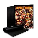 BBQ Grill Mat - [2 Pack] Non-Stick BBQ Grill & Baking Mats, Reusable
