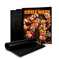 BBQ Grill Mat - [2 Pack] Non-Stick BBQ Grill & Baking Mats, Reusable and Easy to Clean,  Works on Gas, Charcoal, Electric Grills - [ DAGO-Mart Quality Guarantee ]