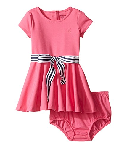 Ralph Lauren Baby Girls' Ponte Dress & Bloomer- Desert Pink (12 Months) by RALPH LAUREN