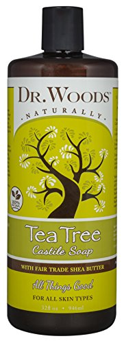 Body Wash Refill (Dr. Woods Pure Tea Tree Castile Soap with Organic Shea Butter, 32 Ounce)