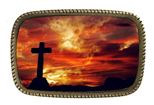 (The Passion And The Cross Religious Belt Buckle)