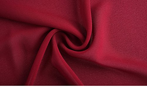 Multi en Confortable Option Bleu Fminine de lgante Mode Haute Jupe L Jupe Mince Fonc Taille Couleur Couleur Soie en OMUUTR Mousseline Section Nouvelle t Solide Big Swing 7gaq0pR