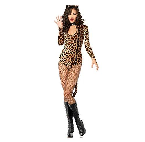 SMSM hot Leopard Cat Ladies Bar Lifestyle Lingerie Cosplay Bundles Tattoo Dresses Halloween (Womens Halloween Costumes Australia)