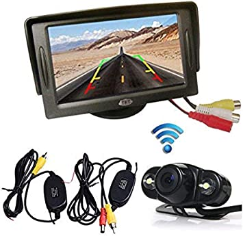 "Car Rear View System Backup Reverse Night Vision 4.3/"" TFT LCD Monitor MYH"