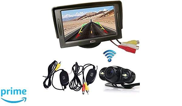 """4.3/"""" TFT LCD Monitor Car Rear View Camera System Backup Reverse Kit Night Vision"""
