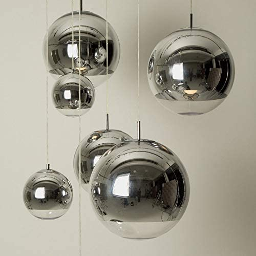 Lightoray Suspension Luminaire Lampe boule en verre