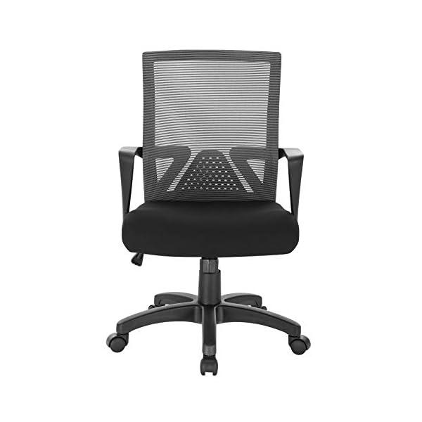 WOLTU BS88gr Chaise de Bureau Chaise d'ordinateur pivotante,Chaise PC avec accoudoir revêtement en Maille Structure en…