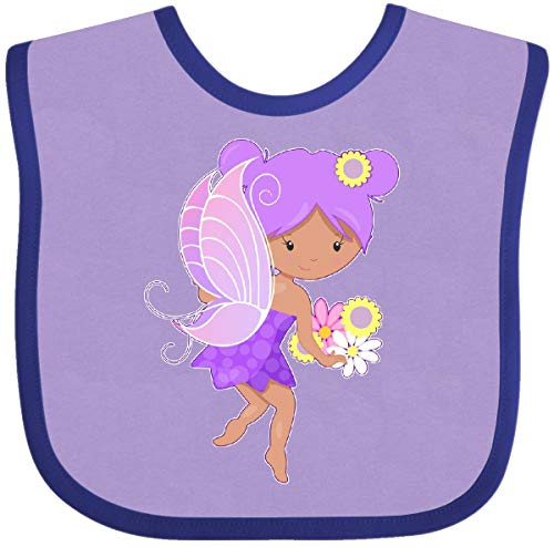 (Inktastic - Purple Flower Fairy Baby Bib Lavender and Purple 2a57d)