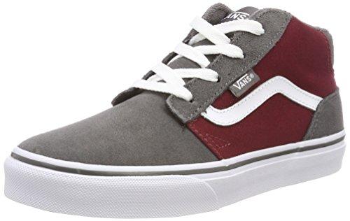 Vans Unisex-Kinder Chapman Mid Sneaker Rot (Suede/canvas)