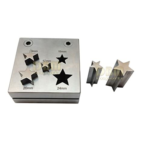 5 PC Star Shape Metal Punch Disc Cutter 12 - 24mm Jewelry Hole ...