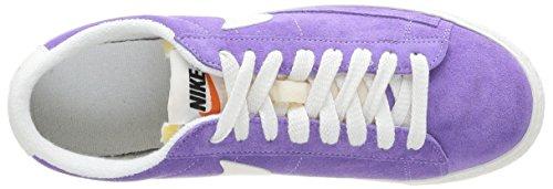 Nike Blazer low suede vntg 517371-501 - Zapatillas de cuero para mujer Morado (Violet et blanc)