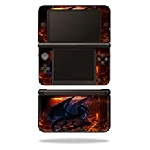 MightySkins Protective Vinyl Skin Decal Cover for Nintendo 3DS XL Original (2012-2014 Models) Sticker Wrap Skins Fire Dragon