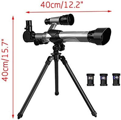 Astronomy Telescopes for Beginners & Kids & Adults High-Powered HD Astronomical Telescope for Science Education Professional Refractor Telescope Birthday Gift Portable with Adjustable Tripod (E)