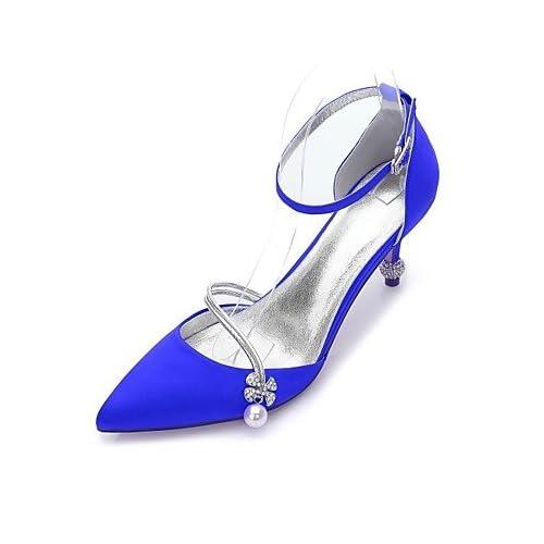 50% de descuento SHUAI shoes El mejor regalo para mujer y madre Mujer  Zapatos Satén Primavera 87a1be6d246
