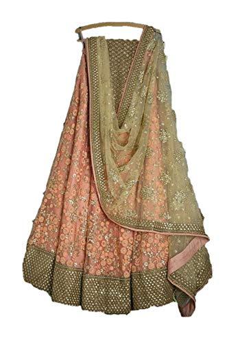 REKHA Ethinc Shop Embroidery Peach Color Lehenga Choli for Woman & Girl A579