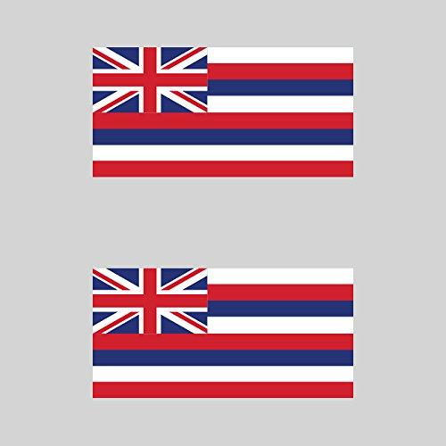 Two Pack Hawaii Flag Sticker FA Graphix Decal Self Adhesive Vinyl hawaiian state the aloha fagraphix 578CFBFA-2-FA8083